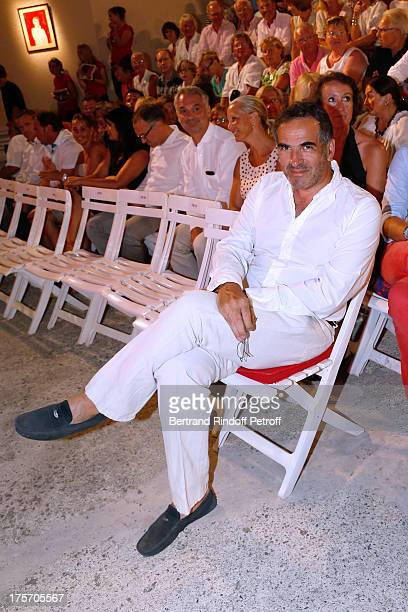Radio Christopher Baldelli attends Magician Eric Antoine's show 'Le mix sous les etoiles' on day 7 of the 29th Ramatuelle Festival on August 6 2013...