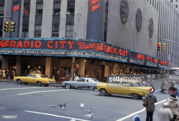 Radio City Music Hall in the Rockefeller Center New York 1977