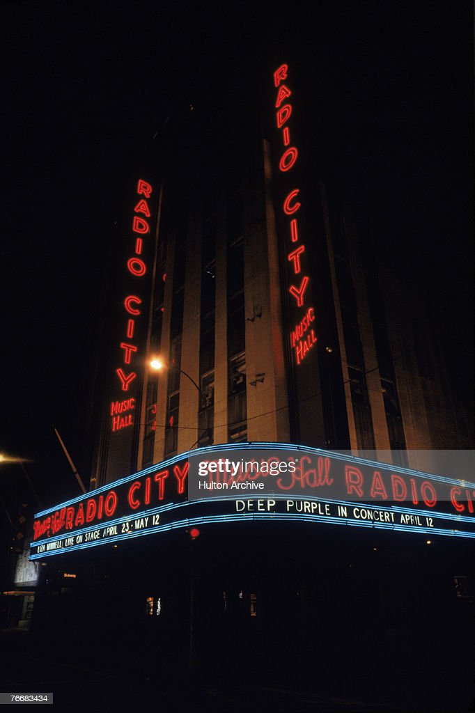 Radio City Music Hall in the Rockefeller Center, New York, circa 1975.