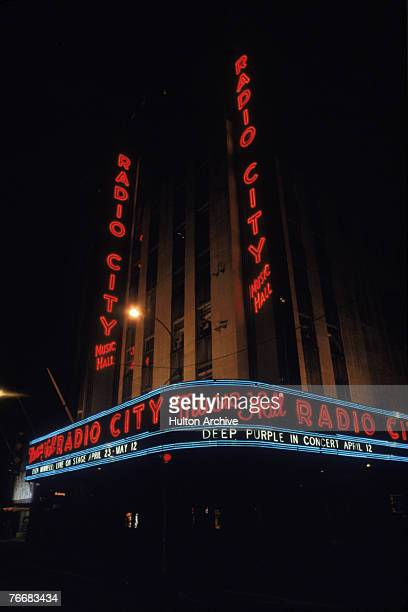 Radio City Music Hall in the Rockefeller Center New York circa 1975