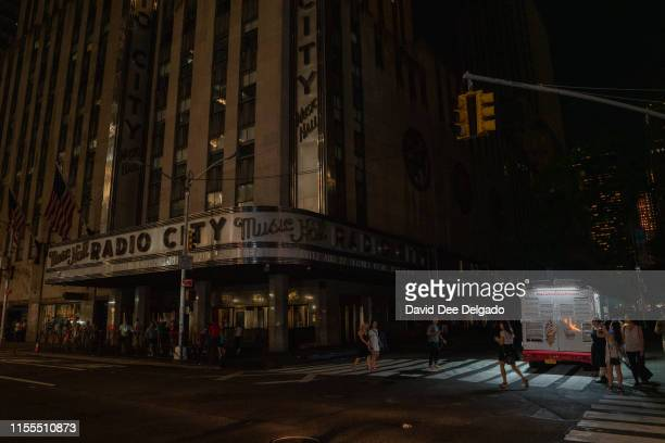 Radio City Music Hall is seen during a major power outage on July 13 2019 in New York City Thousands of New Yorkers are without power as a major...