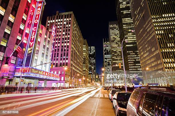 radio city music hall - sixth avenue stock pictures, royalty-free photos & images