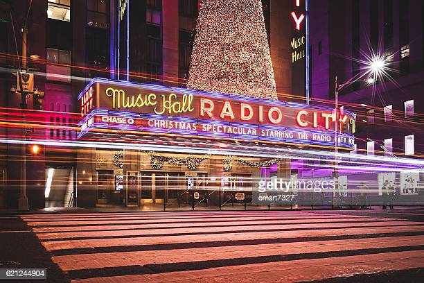 radio city music hall - new york city christmas stock photos and pictures