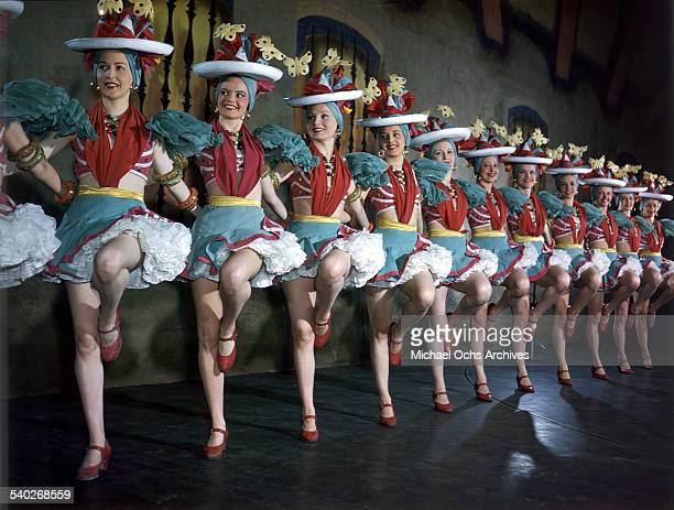 Radio City Music Hall Rockettes perform after days of rehearsal and routine polished to perfection at the Radio City Music Hall in New York