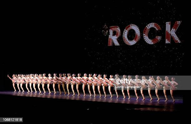Radio City Rockettes perform during the 2018 Christmas Spectacular Opening Night at Radio City Music Hall on November 15 2018 in New York City