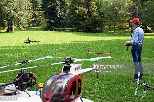 radio controlled helicopter. color image - remote controlled stock photos and pictures