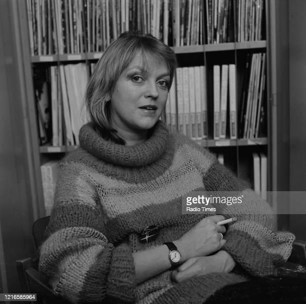 Radio disc jockey Annie Nightingale, November 29th 1979.