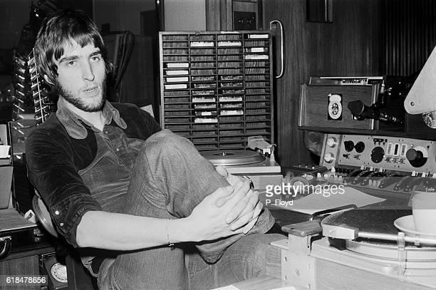 Radio disc jockey Johnnie Walker in a radio studio, UK, 23rd November 1971.