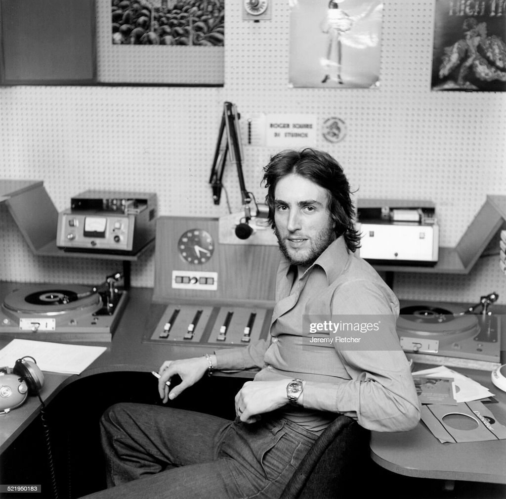 Radio Disc Jockey Johnny Walker At The Bbc Studios London 1972