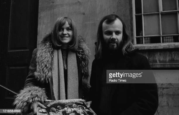 Radio disc jockey's Annie Nightingale and John Peel, January 4th 1971.