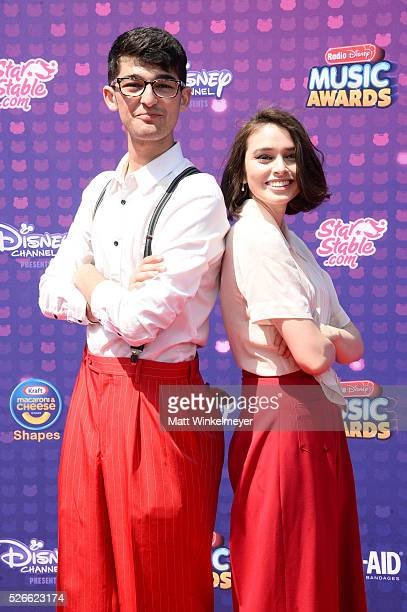 Radio Disney's Chase Yamauchi and Madeleine Coghlan attend the 2016 Radio Disney Music Awards at Microsoft Theater on April 30 2016 in Los Angeles...