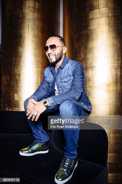 Radio DJ Alex Sensation poses for a portraits at the 2015 Billboard Latin Music Conference for Billboard Magazine on April 29 2015 in Miami Florida