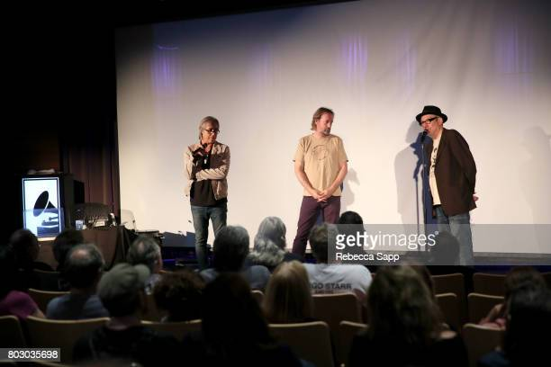 Radio DJ Chris Carter author Brian Kehew and creator and host of The Record Theater Marvin Etzioni speak onstage at The GRAMMY Museum Presents The...