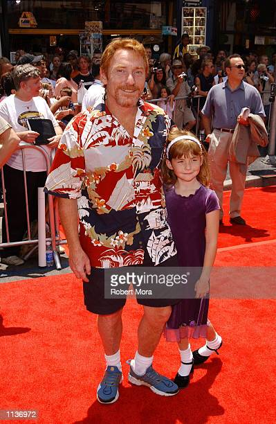 Radio DJ Danny Bonaduce and daughter Isabella attend the premiere of Disney's The Country Bears at the El Capitan Theatre on July 21 2002 in...