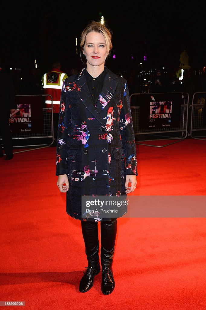 Radio DJ Edith Bowman attends a screening of 'Starred Up' during the 57th BFI London Film Festival at Odeon West End on October 10, 2013 in London, England.