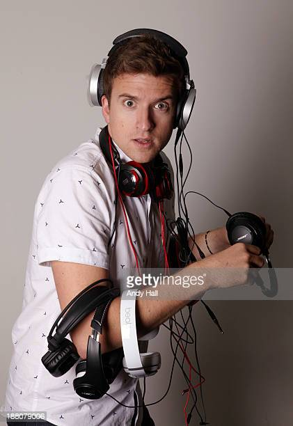 Radio dj Greg James is photographed for the Observer on September 10 2013 in London England