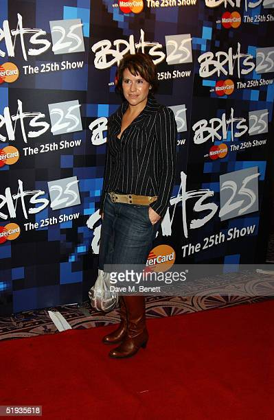 Radio DJ Harriet Scott attends the 'Brit Awards 2005 Shortlist Announcement' at the Park Lane Hotel on January 10 2005 in London The awards ceremony...