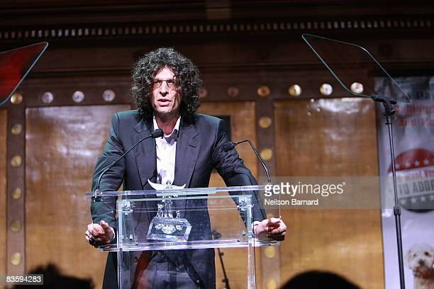 Radio DJ Howard Stern attends the North Shore Animal League America's 2008 DogCatemy celebrity gala at Capitale on November 6 2008 in New York City...