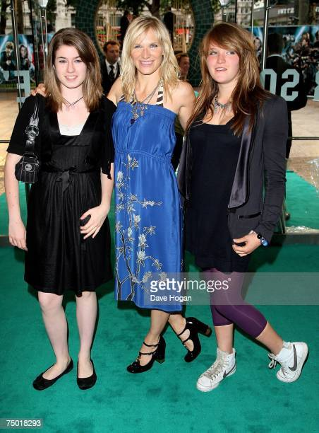 Radio DJ Jo Whiley and her daughter India arrive at the european premiere of Harry Potter And The Order Of The Phoenix at Odeon Leicester Square on...