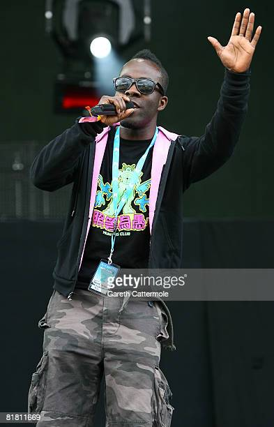 Radio DJ Melvin Odoom of the Kiss 100 Breakfast Show speaks on the main stage during day 1 of the O2 Wireless Festival 2008 on July 3 2008 in London...