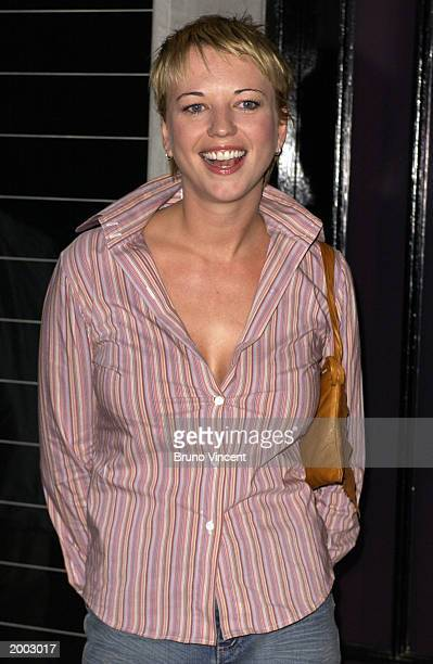 Radio DJ Sara Cox arrives at the Launch Party For New Stella McCartney Store May 15, 2003 Bruton Street, London, United Kingdom.