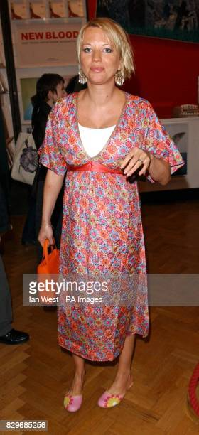 Radio DJ Sara Cox arrives for the 1st Anniversary party and launch of new exhibition 'New Blood' at the Saatchi Gallery County Hall on Southbank in...