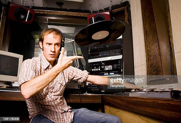 Radio DJ Throwing Records