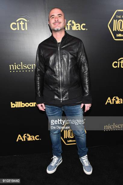 Radio DJ Zane Lowe attends the 2018 Billboard Power 100 celebration at Nobu 57 on January 25 2018 in New York City