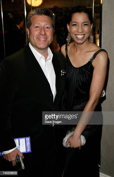 Radio DJs Neil Fox and Margherita Taylor arrive at the Sony Radio Academy Awards 2007 at Grosvenor House Hotel on April 30 2007 in London England The...