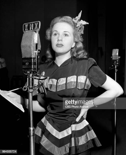 Radio drama anthology Screen Guild Players and its adaptation of the 1935 theatrical film The Good Fairy Pictured is actress Deanna Durbin July 31...