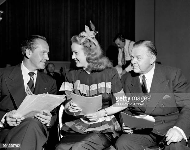 Radio drama anthology Screen Guild Players and its adaptation of the 1935 theatrical film The Good Fairy Pictured is actors Fredric March Deanna...