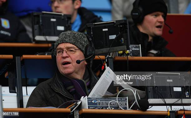 Radio Five commentator Pat Murphy looks on before the FA Cup sponsored by EON 3rd Round match between Aston Villa and Blackburn Rovers at Villa Park...