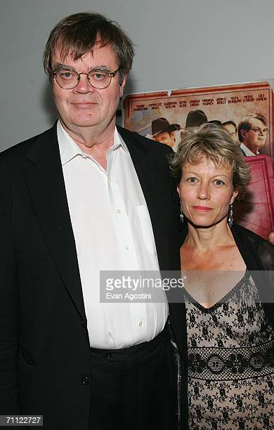 Radio host and actor Garrison Keillor and his wife attend the premiere of 'A Prairie Home Companion' at DGA Theater June 4 2006 in New York City