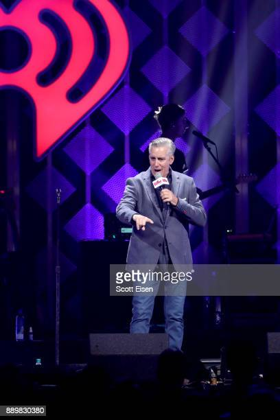 Radio host Billy Costa of KISS 108 speaks onstage during KISS 108's Jingle Ball 2017 presented by Capital One at TD Garden on December 10 2017 in...