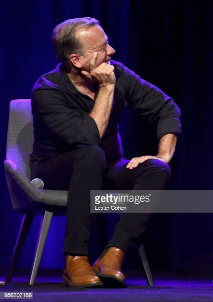 Radio Host Chris Douridas speaks onstage at the 'Billie Eilish and Finneas O'Connell in Conversation' panel at The 2018 ASCAP I Create Music EXPO at...