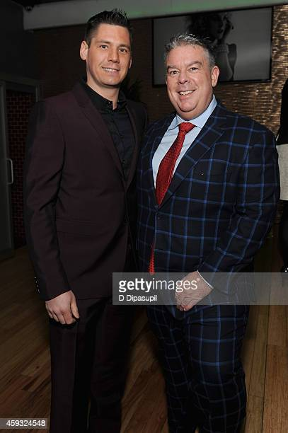 Radio host Elvis Duran and Alex Carr attend Out100 2014 presented by Buick on November 20 2014 in New York City