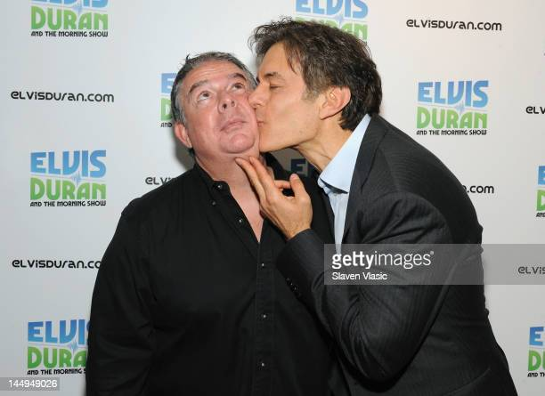 Radio host Elvis Duran and TV personality Dr Oz attend the Elvis Duran Z100 Morning show at Z100 Studio on May 21 2012 in New York City