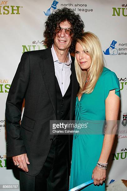 Radio host Howard Stern and DogCatemy Celebrity Gala Honorary Chairperson and TV personality Beth Ostrosky arrive at the North Shore Animal League...