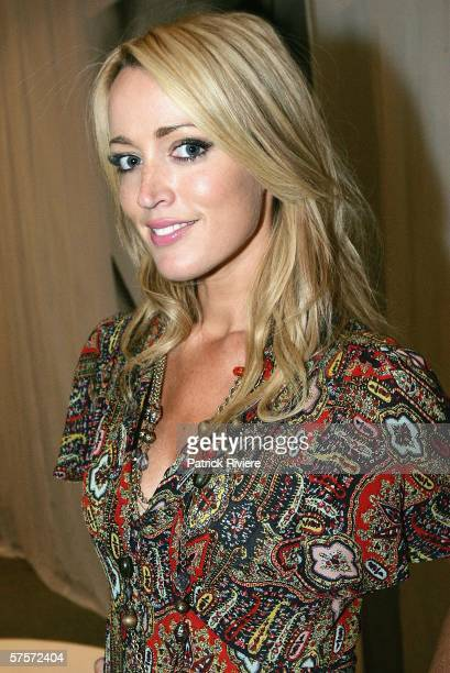 Radio host Jackie O attends the Simone Perele Lingerie Fashion Show at the David Jones Park Terrace Restaurant on May 9 2006 in Sydney Australia