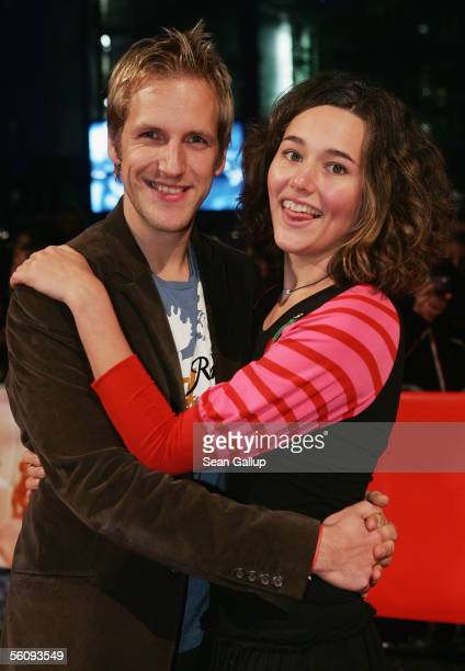 Radio host Jan Hahn and his girlfriend Alissa Jung attend the German premiere of In Her Shoes November 4 2005 at the CineStar in Berlin Germany