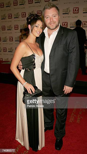 Radio host Kyle Sandilands and his girlfriend Tamara Jaber arrive at the 2007 TV Week Logie Awards at the Crown Casino on May 6 2007 in Melbourne...