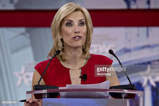 Radio Host Laura Ingraham speaks at the Conservative Political Action Conference in National Harbor Maryland US on Friday Feb 23 2018 The list of...