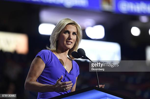 Radio Host Laura Ingraham speaks during the Republican National Convention in Cleveland Ohio US on Wednesday July 20 2016 Donald Trump a realestate...