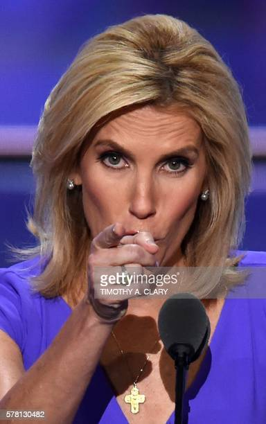 Radio Host Laura Ingraham speaks on the third day of the Republican National Convention in Cleveland, Ohio, on July 20, 2016.