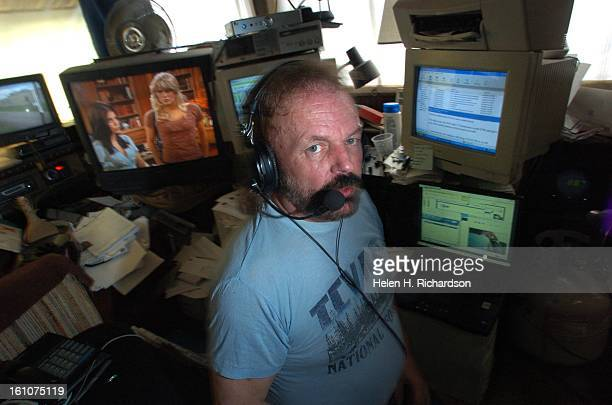 MARSHDALE COLORADO06/06/07 Radio host Phil Henry <cq> runs EGRN 937 FM a classic rock station and EGMC 881 FM a country station all from his little...