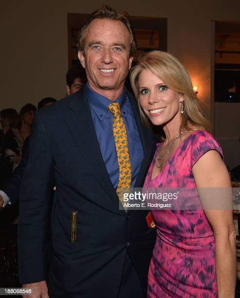 Radio host Robert F Kennedy Jr and actress Cheryl Hines attend the 6th annual Go Go Gala on November 14 2013 in Pacific Palisades California