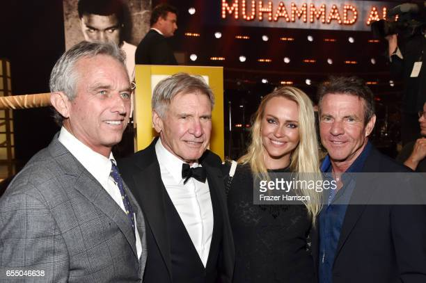 Radio host Robert F Kennedy Jr honoree Harrison Ford Santa Auzina and actor Dennis Quaid attend Muhammad Ali's Celebrity Fight Night XXIII at the JW...