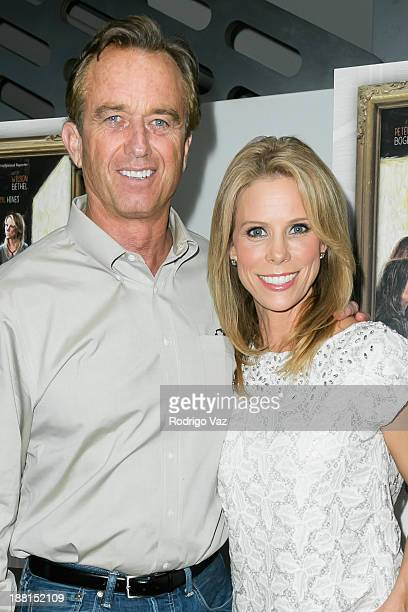 Radio host Robert Kennedy Jr and actress Cheryl Hines attend the Cold Turkey Los Angeles Premiere at Downtown Independent Theater on November 15 2013...