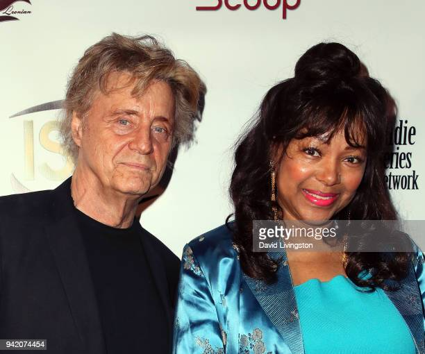 Radio host Shadoe Stevens and Beverly Stevens attend the 9th Annual Indie Series Awards at The Colony Theatre on April 4 2018 in Burbank California