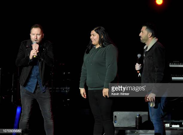 Radio Host Ted Stryker speaks on stage during KROQ Absolut Almost Acoustic Christmas at The Forum on December 9 2018 in Inglewood California